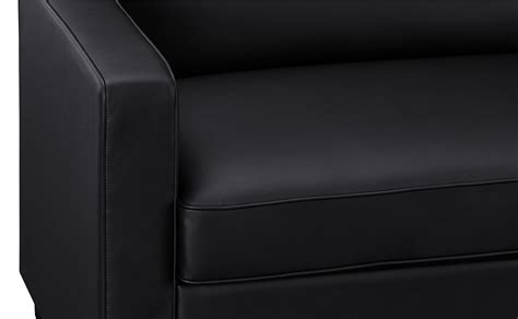 Leather Sleeper Sofa With Memory Foam Mattress Signature Sleep Mattresses Casey Faux Leather Size