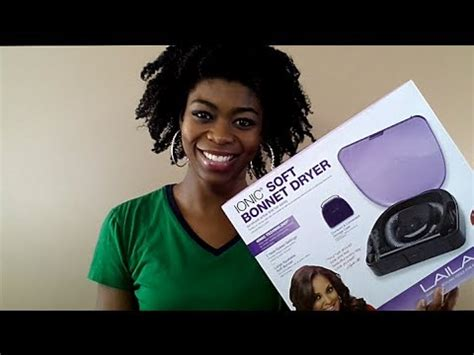Hair Dryer Bonnet Reviews 4c hair laila ali ionic soft bonnet dryer review