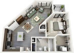 Floor Plans For One Bedroom Apartments by Gallery For Gt One Bedroom Apartment Floor Plans 3d