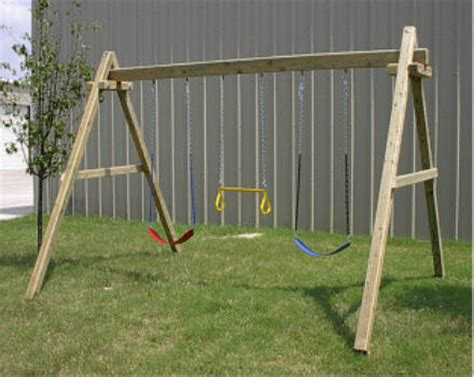 how to build swing frame how to build wood framed swing sets