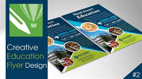 tutorial leaflet design creative education flyer design with corel draw tutorial