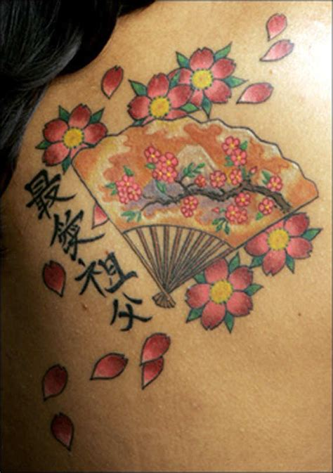 geisha tattoo with cherry blossoms 47 cherry blossom flowers tattoos for girls