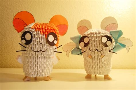 3d origami hamtaro tutorial 3d origami hamtaro and bijou by ibeautylovely on deviantart