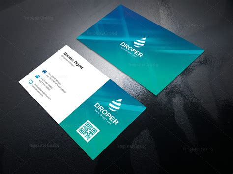 corporate visiting card templates aqua professional corporate business card template 000950