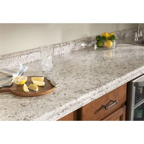 Lowes Kitchen Countertops Laminate Shop Belanger Laminate Countertops 6 Ft Ouro Romano With Etchings Laminate Kitchen