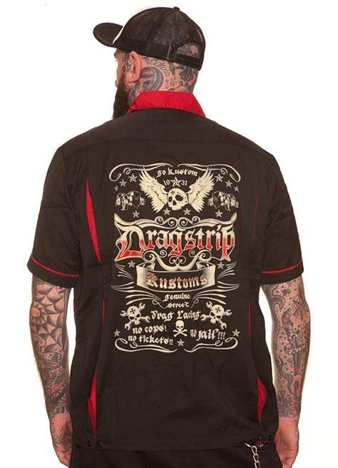 tattoo apparel dragstrip bowling shirt rod apparel 13 biker