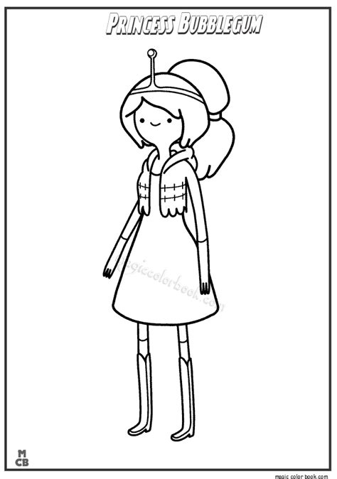 Princess Bubble Gum And Prince Gumball Free Coloring Pages Adventure Time Coloring Pages Princess Bubblegum Free Coloring Sheets