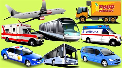 transport vehicles learning vehicles for car and trucks