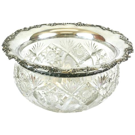 10 lip ceramic bowls large punch bowl with sterling lip for