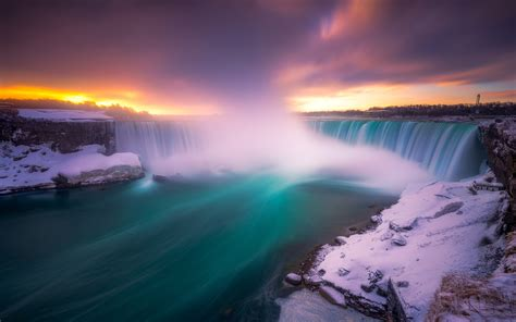 niagara waterfalls  winter  waterfalls