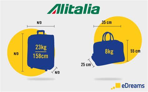 quanti bagagli si possono portare con alitalia regole da seguire per il bagaglio alitalia