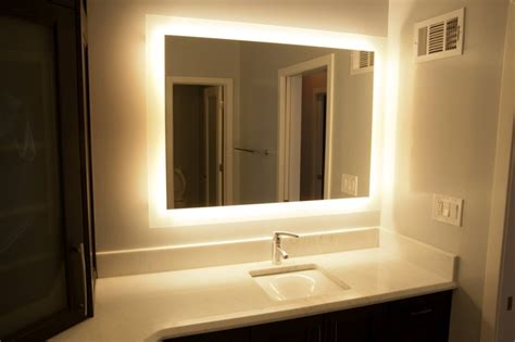 backlit bathroom vanity mirrors what is a back lit vanity mirror design build pros