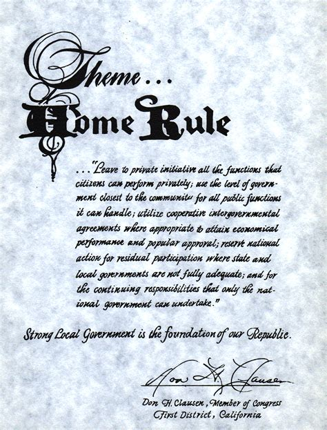 opinions on home rule