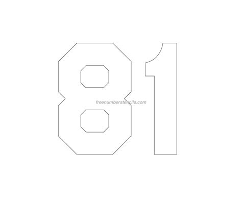 printable jersey number stencils free jersey printable 81 number stencil