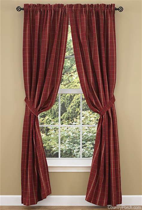 Country Kitchen Theme Ideas Adamstown Wine Lined Tieback Curtain Panels