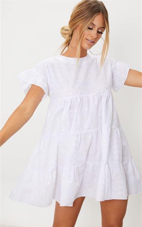 white broderie anglaise smock dress dresses