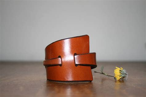 Handmade Leather Wristbands - handmade leather bracelet by ksleathercraft