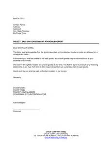 request new car title sale on consignment acknowledgment template sle