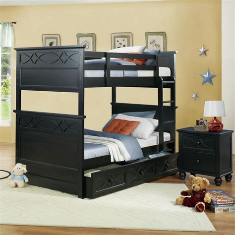 homelegance sanibel 2 piece bunk bed kids bedroom set in black beyond stores