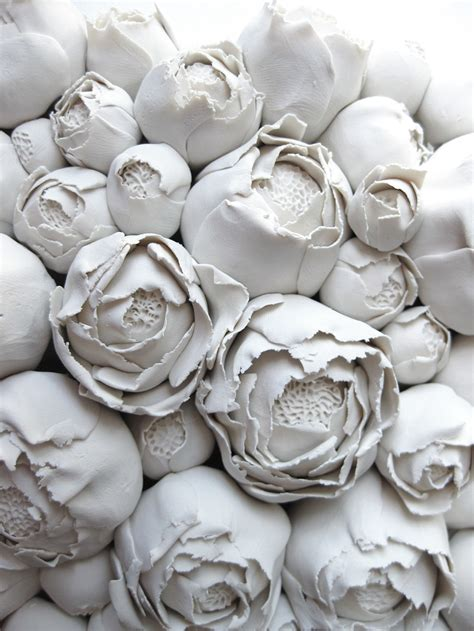 polymer flower sculptures  tiles  angela schwer