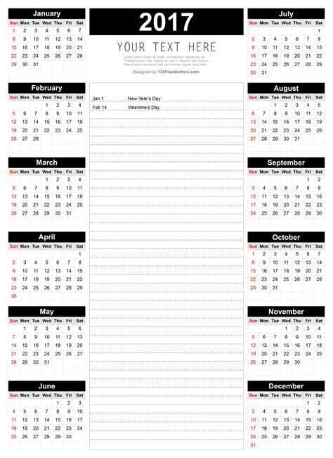 printable calendar november 2017 with notes printable 2017 calendar template with notes 2017