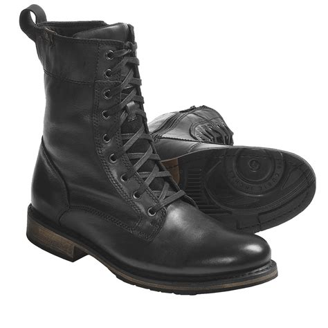 harley davidson merle lace up boots leather for