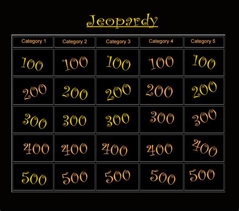 Classroom Jeopardy Template 7 Download Documents In Pdf Classroom Jeopardy Template