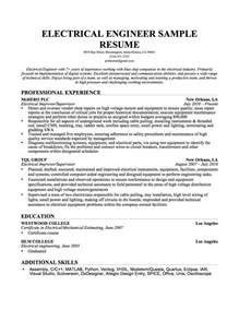 Electrical Engineering Resume Samples electrical engineer resume sample resume genius