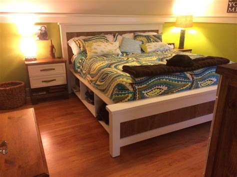 Diy Farmhouse Bed From 2 Ana White Plans | diy farmhouse bed from 2 ana white plans ferris built