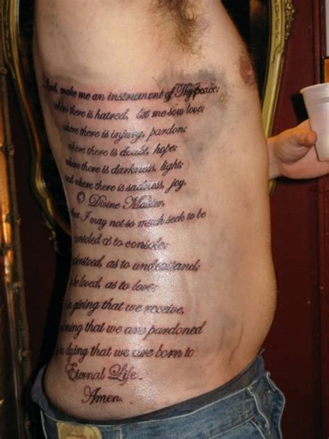men tattoo quotes rib quotes for quotesgram