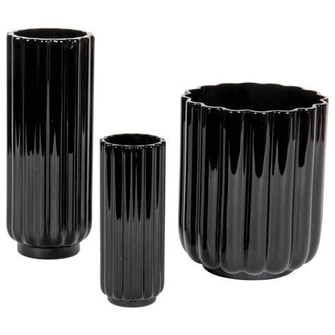 Set Viena Black Cc george sakier fostoria glass co quot lotus quot vases c 1929