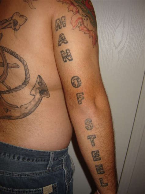 man of steel tattoo of steel