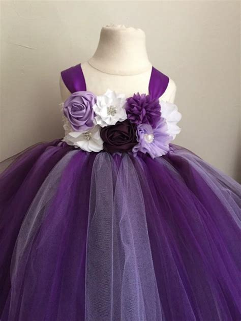 plum colored flower dresses purple lavender and plum tulle flower dress