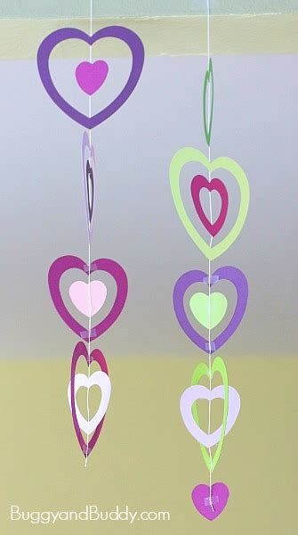 Simple Ideas To Decorate Home by Valentine Crafts For Kids Paper Heart Mobile Buggy And