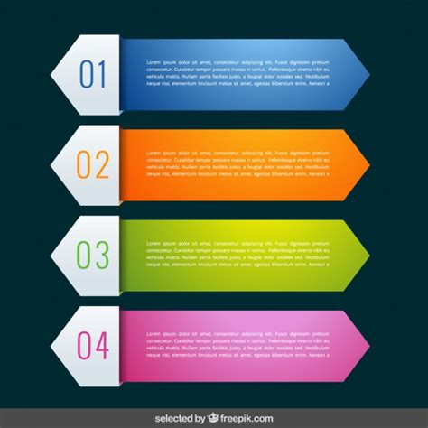 colorful infographic banners collection vector free download