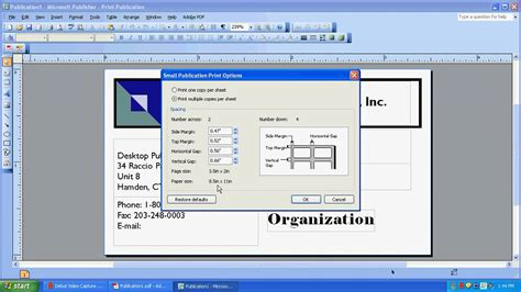 how to layout newspaper using ms publisher printing on a multi card layout in microsoft publisher
