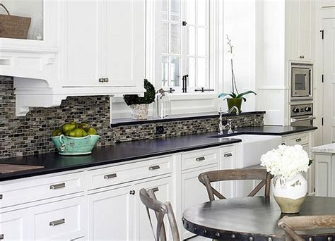 Kitchen Tile Backsplash Ideas With White Cabinets Kitchen Backsplashes Ideas