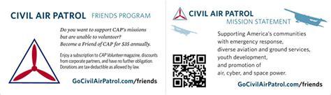 air business card template business card templates civil air patrol national