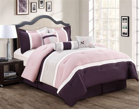 7 piece burgundy coffee black comforter set