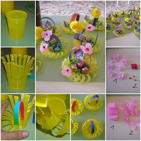 How To Make Paper Flower Basket - how to make plastic cup flower basket step by step diy