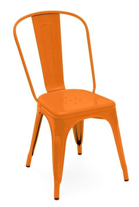 tolix chaise a chaise a de tolix acier laqu 233 potiron
