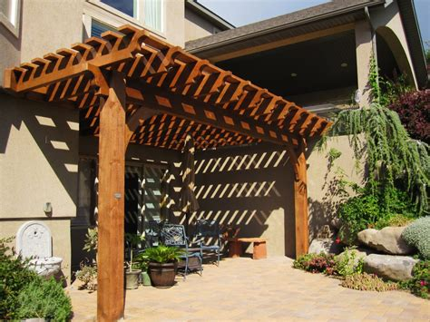 Attached 14 X 20 Timber Frame Pergola Kit For Shade Timber Frame Pergola Kits