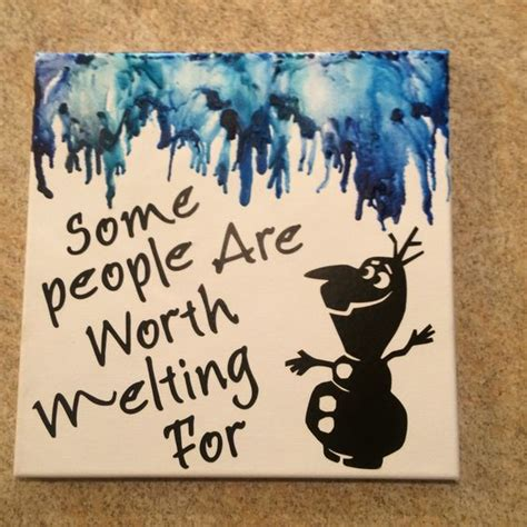 disney s frozen themed melted crayon art melted crayon canvas of my favorite disney quote quot some