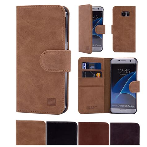 Best Leather Samsung Galaxy S7 Edge Wallet Premium Flip Cover Ca samsung galaxy s7 edge premium italian leather book wallet 32ndshop