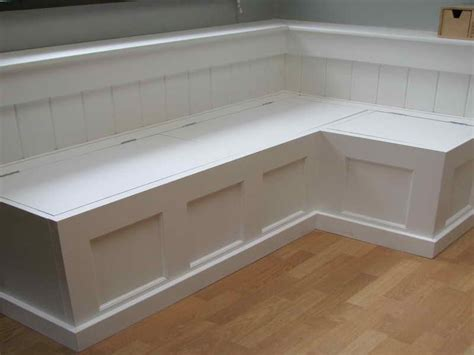 Kitchen Banquette With Storage by Building A Corner Storage Bench Related Post From