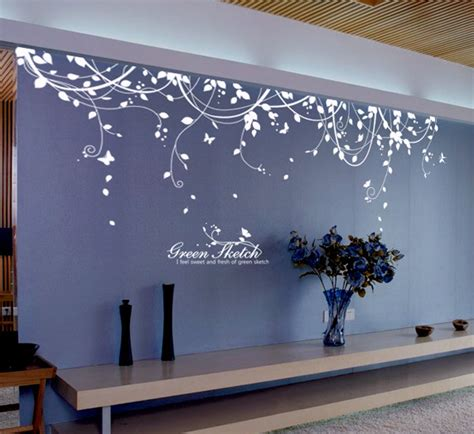 Tree Mural For Wall vine vinyl wall decals wallstickery com