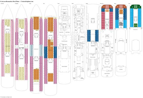 costa neoromantica cabine costa neoromantica deck plans diagrams pictures