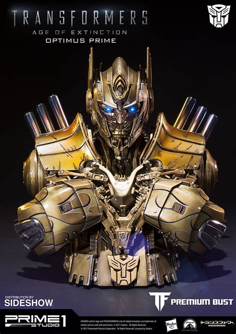 Transformers Gold transformers optimus prime gold version bust by prime 1