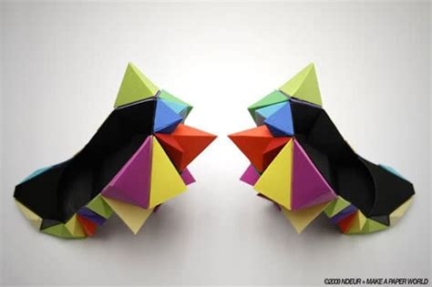 shoe origami colorful origami shoes for the who has everything