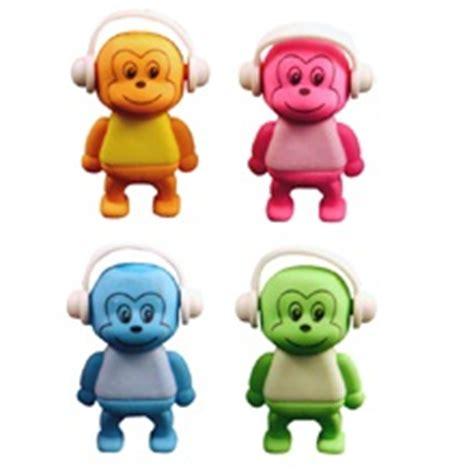 monkey rubber st monkey novelty 3d erasers rubbers pink blue green or orange